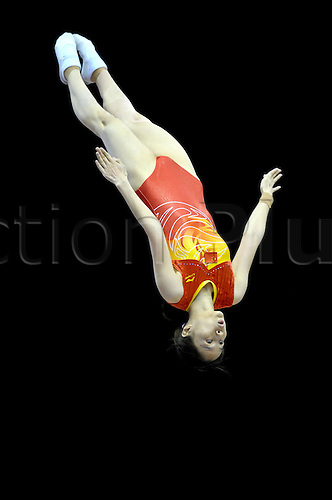 17.11.2011, Birmingham, England. Trampoline and Tumbling World Championships at the National Indoor Arena.Huang of China