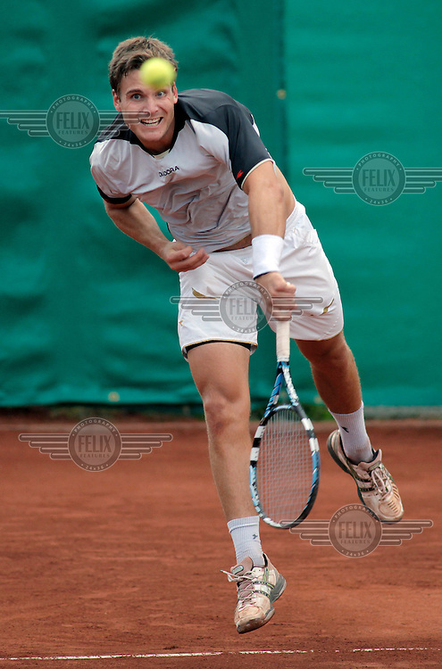 Erling Tveit, who beat Frederik Sletting Johnsen, in the singles final during the Norwegian tennis championship.