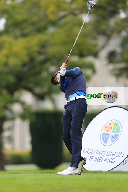 Liam Nolan (Galway) on the 1st tee during the AIG Senior Cup Final at the 2017 AIG Cups and Shields at Carton House. 23/09/2017.<br /> <br /> Picture: Golffile | Jenny Matthews<br /> <br /> <br /> All photo usage must carry mandatory copyright credit (&copy; Golffile | Jenny Matthews)