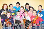 Children from Brosna who will compete in Traditional Music, Quiz and Dancing at the All Ireland Community Games finals in Athlone this weekend front row l-r: Darragh Curtin, Sarah O'Keeffe, Shauna Lane, Maurice O'Keeffe. Back row: Innis Daly, Patrick Leahy, Cillian Keane, Suzanne Curtin, Eamon Prenderville, Roisin Langan-Browne and Conor Daly