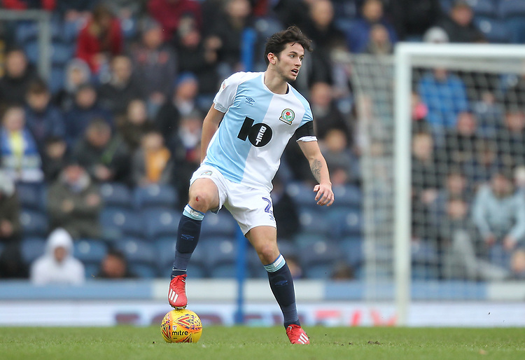 Blackburn Rovers Lewis Travis<br /> <br /> Photographer Mick Walker/CameraSport<br /> <br /> The EFL Sky Bet Championship - Blackburn Rovers v Bristol City - Saturday 9th February 2019 - Ewood Park - Blackburn<br /> <br /> World Copyright &copy; 2019 CameraSport. All rights reserved. 43 Linden Ave. Countesthorpe. Leicester. England. LE8 5PG - Tel: +44 (0) 116 277 4147 - admin@camerasport.com - www.camerasport.com