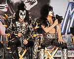 HOLLYWOOD, CA - MARCH 20: Gene Simmons and Paul Stanley of KISS  attend the 'Kiss, Motley Crue: The Tour' Press Conference at Hollywood Roosevelt Hotel on March 20, 2012 in Hollywood, California.