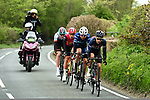 The breakaway featuring James Gullen (JTC), Harry Tanfield (BIK), Sebastian Mora Vedri (RAL) and Connor Swift (MGT) during Stage 2 of the Tour de Yorkshire 2017 running 122.5km from Tadcaster to Harrogate, England. 29th April 2017. <br /> Picture: ASO/A.Broadway | Cyclefile<br /> <br /> <br /> All photos usage must carry mandatory copyright credit (&copy; Cyclefile | ASO/A.Broadway)