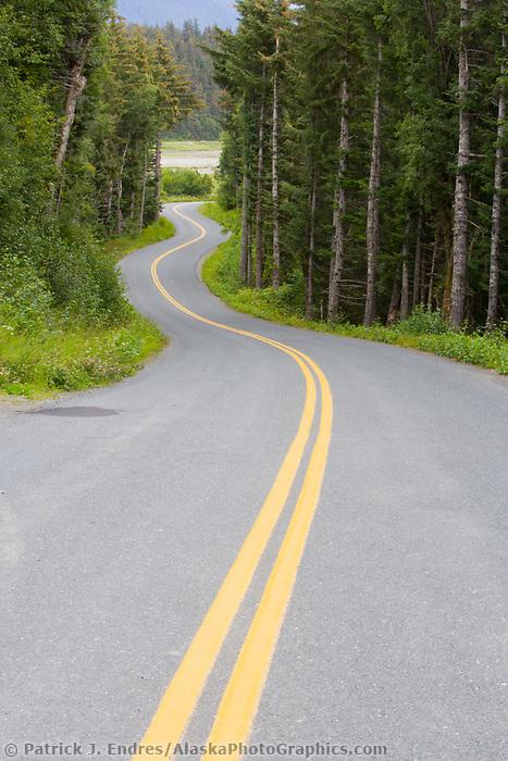 Winding roadway, Haines, Alaska