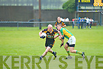 Stacks Darragh Long shrugs off the challenge of South Kerrys Daniel Daly.
