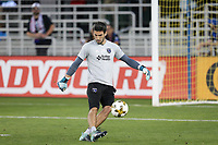 San Jose, CA - Wednesday September 27, 2017: Andrew Tarbell prior to a Major League Soccer (MLS) match between the San Jose Earthquakes and the Chicago Fire at Avaya Stadium.