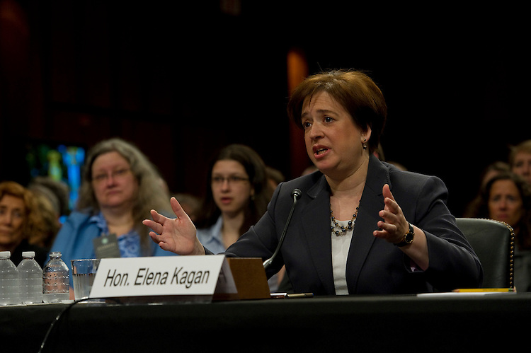 WASHINGTON, DC - June 29: President Obama's U.S. Supreme Court nominee Elena Kagan testifies during her Senate Judiciary nomination hearing. (Photo by Scott J. Ferrell/Congressional Quarterly)
