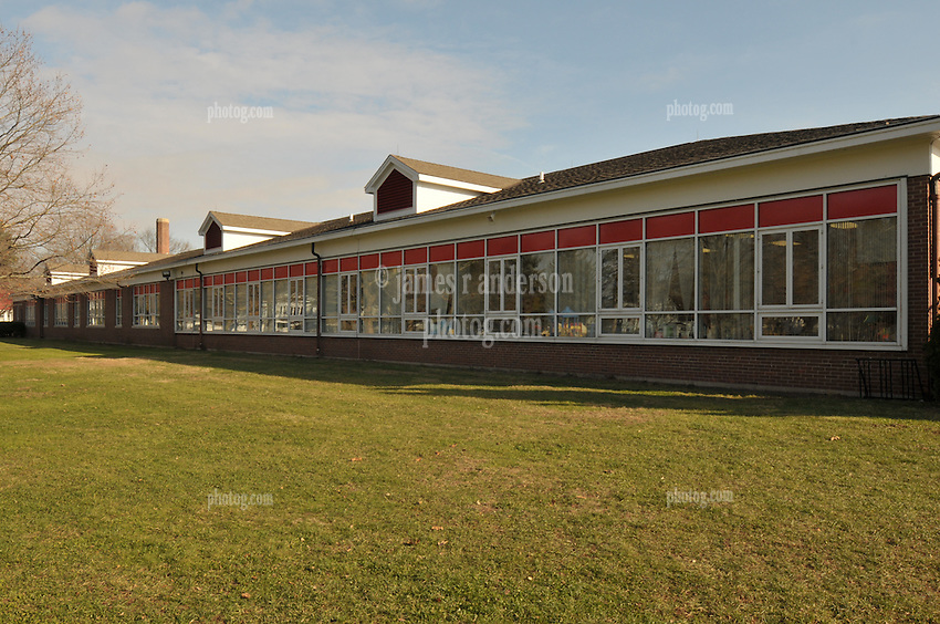 Hanover Elementary School - Kindergarten Addition.James R Anderson Photographer | photog.com 203-281-0717.Andrade Architects, LLC. Enfield Builders, Inc..Photography Date: 14 December 2011.Camera View: North-northeast, west elevation at south end of School..Image Number 19