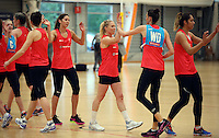 24.08.2016 Silver Ferns in action during the Silver Ferns Training in Auckland. Mandatory Photo Credit ©Michael Bradley.