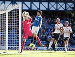 Jamie MacDonald saves from Nicky Clark