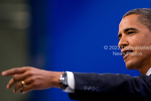 Pittsburgh, PA - September 25, 2009 -- United States President Barack Obama takes a question from a reporter during a news conference following day two of the Group of 20 summit in Pittsburgh, Pennsylvania, U.S., on Friday, September 25, 2009. G-20 leaders said they will crack down on risk taking by banks and better align economic policies as they turned from crisis management to delivering a new set of rules for the world economy. .Credit: Andrew Harrer / Pool via CNP