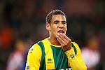 Nederland, Eindhoven, 2 februari 2013.Eredivisie.Seizoen 2012-2013.PSV-ADO Den Haag (7-0).Ramon Leeuwin van ADO Den Haag verlaat teleurgesteld  het veld na afloop van de wedstrijd.