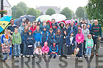 CHARITY WALK: The large crowd who went on the charity walk in aid of the Voluntary Overseas Services, in Killarney.last Sunday, despite the bad weather.