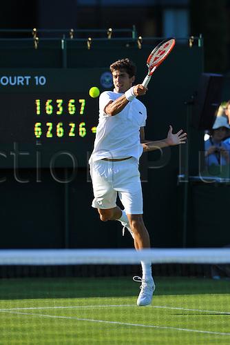 29.06.2015. Wimbledon, England. The Wimbledon Tennis Championships. Gentlemen's Singles first round match Pierre hughes herbert (Fra)