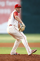 Chattanooga Lookouts pitcher Lewis Thorpe (36) delivers a pitch during a game against the Pensacola Blue Wahoo on July 27, 2018 at AT&T Field in Chattanooga, Tennessee. (Andy Mitchell/Four Seam Images)