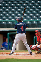 Atlanta Braves Carlos Martinez (4) at bat during a Florida Instructional League game against the Canadian Junior National Team on October 9, 2018 at the ESPN Wide World of Sports Complex in Orlando, Florida.  (Mike Janes/Four Seam Images)