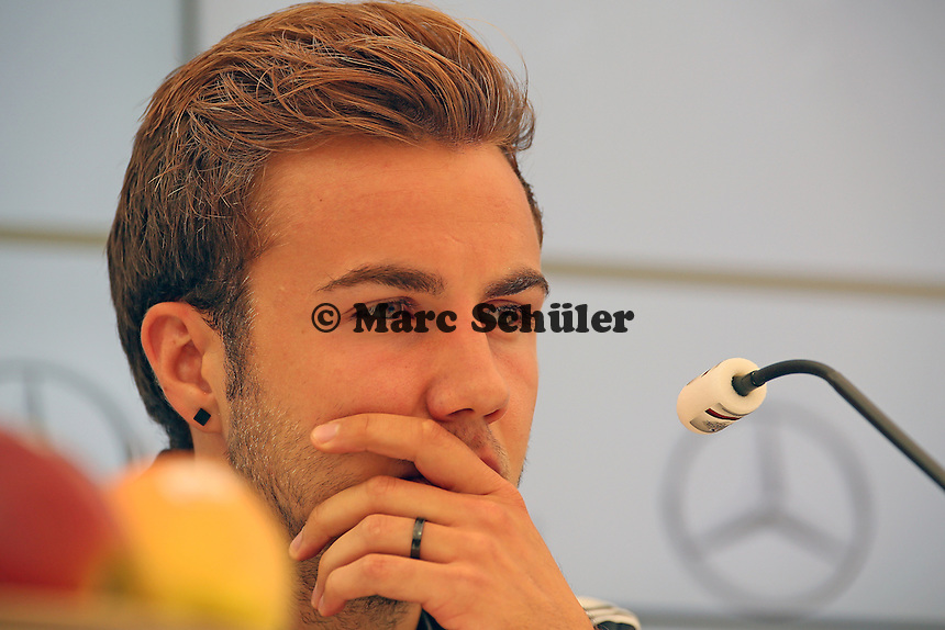Mario Götze  - Pressekonferenz der Deutschen Nationalmannschaft zur WM-Vorbereitung in St. Martin