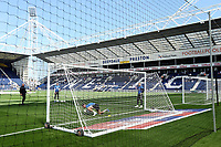 Preston North End players warm-up ahead of kick-off at Deepdale stadium<br /> <br /> Photographer Rich Linley/CameraSport<br /> <br /> The Premier League - Preston North End v Sheffield Wednesday - Saturday August 24th 2019 - Deepdale Stadium - Preston<br /> <br /> World Copyright © 2019 CameraSport. All rights reserved. 43 Linden Ave. Countesthorpe. Leicester. England. LE8 5PG - Tel: +44 (0) 116 277 4147 - admin@camerasport.com - www.camerasport.com