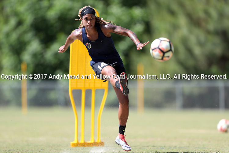 CARY, NC - MAY 04: Jessica McDonald. The North Carolina Courage held a training session on May 4, 2017, at WakeMed Soccer Park Field 6 in Cary, NC.