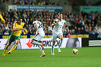Thursday 24 October 2013  <br /> Pictured: Michu  makes a run with the ball <br /> Re:UEFA Europa League, Swansea City FC vs Kuban Krasnodar,  at the Liberty Staduim Swansea