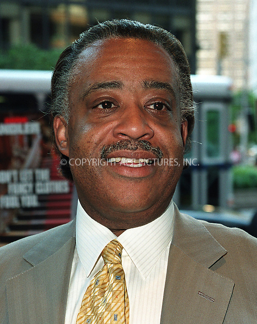 Rev. Al Sharpton arrives at the world premiere of Mr. Deeds in New York. June 18, 2002. Please byline: Alecsey Boldeskul/NY Photo Press.   ..*PAY-PER-USE*      ....NY Photo Press:  ..phone (646) 267-6913;   ..e-mail: info@nyphotopress.com