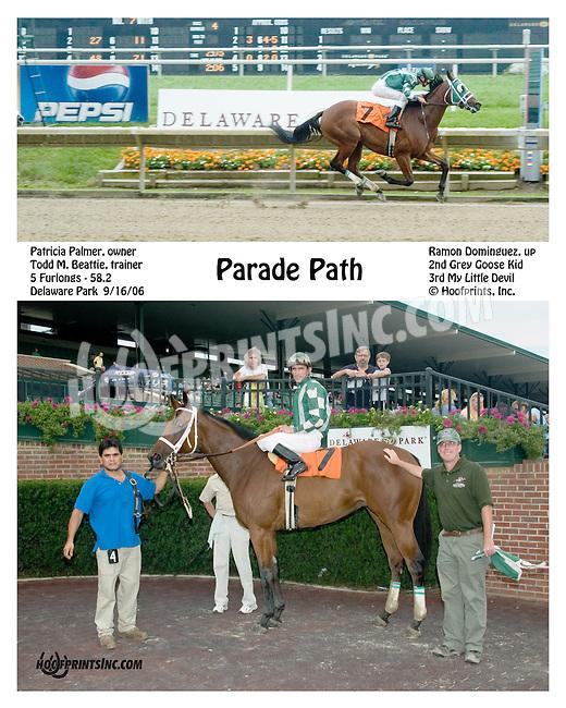 parade Path winning at Delaware Park on 9/162006