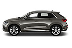 Car Driver side profile view of a 2019 Audi Q3 S-line 5 Door SUV Side View
