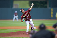 Florida State Seminoles starting pitcher Drew Parrish (43) in action against the Notre Dame Fighting Irish in Game Four of the 2017 ACC Baseball Championship at Louisville Slugger Field on May 24, 2017 in Louisville, Kentucky. The Seminoles walked-off the Fighting Irish 5-3 in 12 innings. (Brian Westerholt/Four Seam Images)