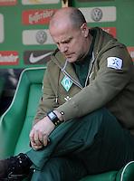 FUSSBALL   1. BUNDESLIGA   SAISON 2011/2012   27. SPIELTAG SV Werder Bremen - FC Augsburg                        24.03.2012 Trainer Thomas Schaaf (SV Werder Bremen)