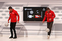 Garet Bale and Toni Kroos participates and receives new Audi during the presentation of Real Madrid's new cars made by Audi in Madrid. December 01, 2014. (ALTERPHOTOS/Caro Marin) /Nortephoto