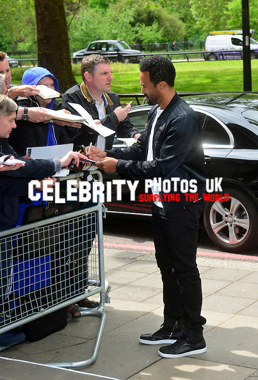 Craig David at the Ivor Novello Awards at the Grosvenor House Hotel, Park Lane, London on May 19th 2016
