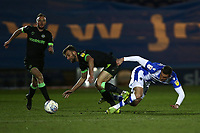 Ben Dickenson of Colchester United nd Christian Doidge of Forest Green Rovers during Colchester United vs Forest Green Rovers, Sky Bet EFL League 2 Football at the JobServe Community Stadium on 12th March 2019