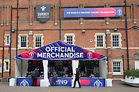 An official merchandising outlet at the Oval during India vs New Zealand, ICC World Cup Warm-Up Match Cricket at the Kia Oval on 25th May 2019
