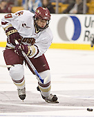 Nathan Gerbe - The Boston College Eagles defeated the Northeastern University Huskies 5-2 in the opening game of the 2006 Beanpot at TD Banknorth Garden in Boston, MA, on February 6, 2006.