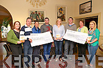 "Presentation: Members of the Boro Players Drama Group, Moyvane  make presentations of cheques for €2000.00 each, the proceeds of two presentations of the play ""What Love Is"" held at the Marian Hall, Moyvane on 21st march & 13th April, to The Irish Cancer Society & the Donal Walsh Foundation at the Listowel Arms Hotel on Sunday evening last. L-R: Aine Cronin, Joe Mulvihill, Eileen Kearney, Irish Cancer Society, Donie Enright, Katie Galvin, Jamie Vaughan, Elma Walsh, Donal Walsh Foundation & Jennifer Kennelly."