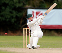 Jack Brydon bats for Shepherds Bush during the Middlesex Cricket League Division Two game between Shepherds Bush and Hornsey at Bromyard Ave, London on Sat Aug 1, 2015