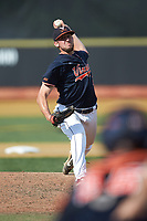 Virginia Cavaliers relief pitcher Bennett Sousa (11) in action against the Wake Forest Demon Deacons at David F. Couch Ballpark on May 19, 2018 in  Winston-Salem, North Carolina. The Demon Deacons defeated the Cavaliers 18-12. (Brian Westerholt/Four Seam Images)
