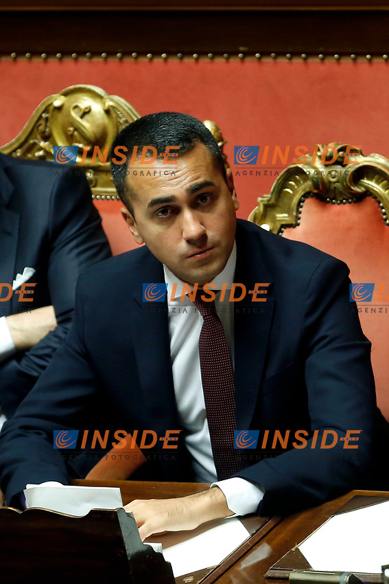Luigi Di Maio<br /> Rome September 10th 2019. Senate. Discussion and Trust vote at the new Government. <br /> Foto  Samantha Zucchi Insidefoto