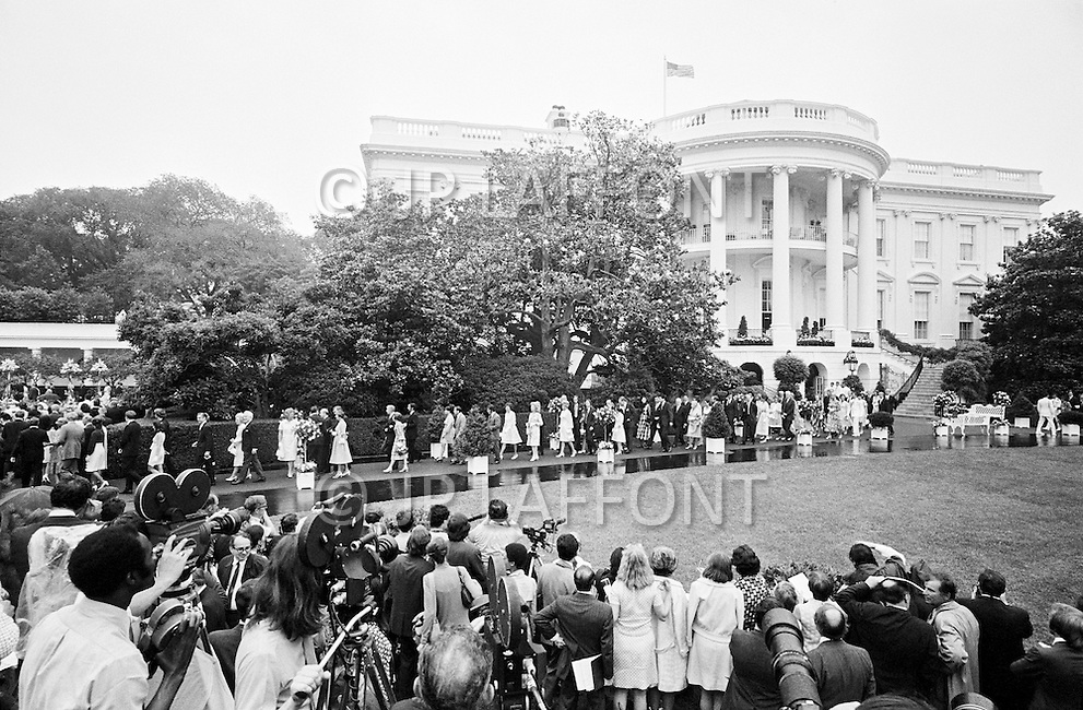 1792, Washington, DC, USA --- President Richard Nixon's daughter Tricia Nixon weds Edward Cox at the White House. --- Image by © JP Laffont