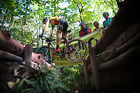 Sven Nys (BEL/Crelan-AAdrinks) jumping the ditch<br /> <br /> GP Neerpelt 2014