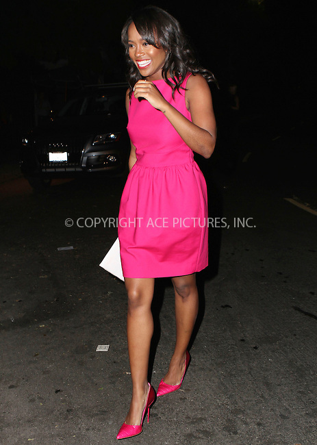 ACEPIXS.COM<br /> <br /> February 17 2015, LA<br /> <br /> Aja Naomi King arriving at the Vanity Fair and Fiat Toast to 'Young Hollywood' in support of the Terrence Higgins Trust at No Vacancy on February 17, 2015 in Los Angeles, California.<br /> <br /> <br /> By Line: Nancy Rivera/ACE Pictures<br /> <br /> ACE Pictures, Inc.<br /> www.acepixs.com<br /> Email: info@acepixs.com<br /> Tel: 646 769 0430