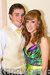 Niall O'Hanlon and Laura Horgan pictured at Causeway Comprehensive Debs Ball at the Ballyroe Heights hotel on Thursday.
