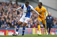 Blackburn Rovers' Ryan Nyambe and Preston North End's Daniel Johnson<br /> <br /> Photographer Stephen White/CameraSport<br /> <br /> The EFL Sky Bet Championship - Blackburn Rovers v Preston North End - Saturday 18th March 2017 - Ewood Park - Blackburn<br /> <br /> World Copyright &copy; 2017 CameraSport. All rights reserved. 43 Linden Ave. Countesthorpe. Leicester. England. LE8 5PG - Tel: +44 (0) 116 277 4147 - admin@camerasport.com - www.camerasport.com