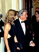 Singer Tony Bennett waits to be introduced to United States President Bill Clinton and first lady Hillary Rodham Clinton at the Official Dinner honoring Chancellor Helmut Kohl of Germany at the White House in Washington, DC for an Official Dinner on Thursday, February 9, 1995.<br /> Credit: John Harrington / Pool via CNP