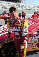 May 2, 2008; Richmond, VA, USA; NASCAR Nationwide Series driver Clint Bowyer during the Lipton Tea 250 at the Richmond International Raceway. Mandatory Credit: Mark J. Rebilas-