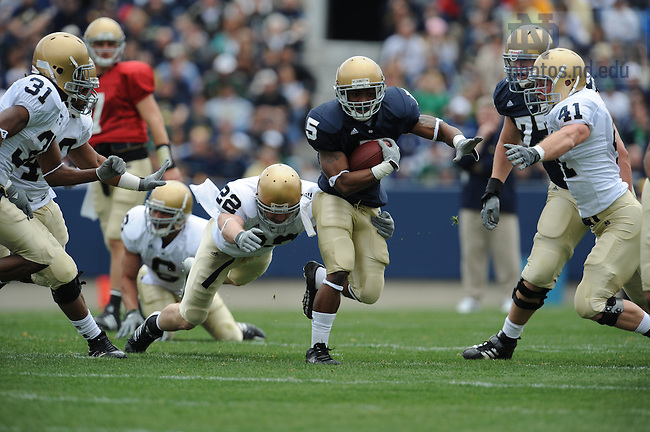 Blue-Gold game 2008..Photo by Matt Cashore.