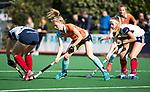 HUIZEN  -   Fieke Hoff (Gro) , hoofdklasse competitiewedstrijd hockey dames, Huizen-Groningen (1-1)   COPYRIGHT  KOEN SUYK
