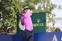 Thorbjorn Olesen (DEN) on the 14th tee during the 2nd round of the DP World Tour Championship, Jumeirah Golf Estates, Dubai, United Arab Emirates. 16/11/2018<br /> Picture: Golffile | Fran Caffrey<br /> <br /> <br /> All photo usage must carry mandatory copyright credit (© Golffile | Fran Caffrey)
