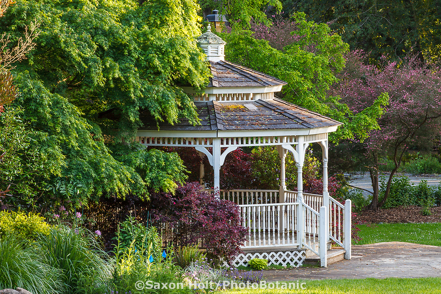 Gazebo by lawn at Marin Art and Garden Center