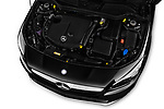 Car Stock 2017 Mercedes Benz CLA-Class - 5 Door wagon Engine  high angle detail view